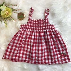 OshKosh B'gosh red gingham strawberry dress 5T